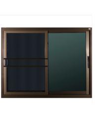 A-Plus หน้าต่างอลูมิเนียมบานเลื่อน 1.20 x 1.08 ม.  SS Like 002 สีชา พร้อมมุ้ง