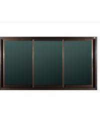 A-Plus หน้าต่างอลูมิเนียมบานเลื่อน SFS Like-004 1.80 x1.08 ม.  สีชา ไม่มีมุ้ง