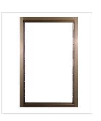 A-Plus หน้าต่างอลูมิเนียมบานเกล็ด 70x110cm. สีชา ไม่มีมุ้ง A-Plus Like