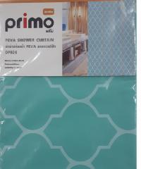 PRIMO ผ้าม่านห้องน้ำ PEVA ลายกราฟฟิก 180x180ซม.  DF026