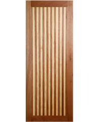BEST ประตูไม้สยาแดง ขนาด 40x200cm. GL01