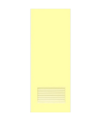 OK ประตูบานเกล็ดพีวีซี (ไม่เจาะ) 70x180 ซม. พร้อมวงกบ  บานเกล็ด/ช่องลม P2 ครีม