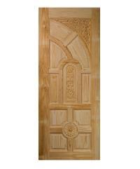 BEST ประตูพิเศษไม้จำปา 100x200 ลูกฟัก+กระจก