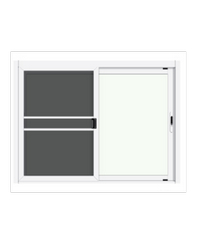 3G หน้าต่างอลูมิเนียมสำเร็จรูป ขนาด  150 x 110 cm. X Series ขาว