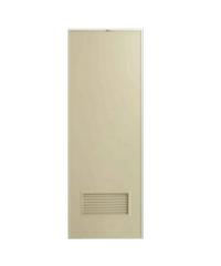 BATHIC ประตู PVC ขนาด 70x180 cm. ไม่เจาะ BP2 สีครีม