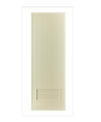 BATHIC ประตู PVC (ไม่เจาะ) ขนาด 70x180 cm. BS2 ไม่เจาะ สีครีม