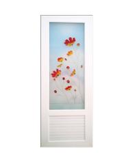 OK ประตูไวนิลกระจก 70x200 ซม. U18 ขาว