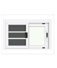 3G หน้าต่างอลูมิเนียมสำเร็จรูป ขนาด  80 x 50 cm. X Series ขาว