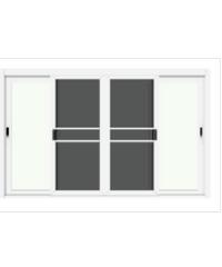 3G หน้าต่างอลูมิเนียมสำเร็จรูป ขนาด 180 x 110 cm. X Series ขาว