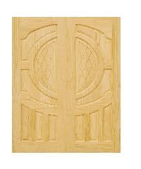 D2D ประตูไม้สนนิวซีแลนด์ ขนาด 90x220 ซม. D2D-304 ธรรมชาติ