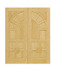 D2D ประตูไม้สนนิวซีแลนด์ ขนาด90x220 ซม. D2D-305 ธรรมชาติ