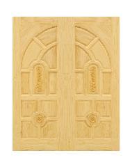 D2D ประตูไม้สนนิวซีแลนด์ ขนาด 80x200 ซม. Eco Pine - 005 ธรรมชาติ