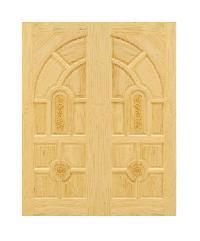 D2D ประตูไม้สนนิวซีแลนด์ ขนาด 90x200 ซม. Eco Pine - 005 ธรรมชาติ
