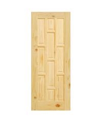 D2D ประตูไม้สนนิวซีแลนด์ ขนาด 80x200 ซม. Eco Pine - 015 ธรรมชาติ