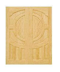 D2D ประตูไม้สนนิวซีแลนด์ ขนาด 80x200 ซม. D2D-304 ธรรมชาติ