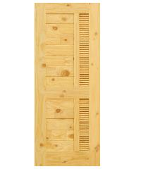 D2D ประตูไม้สนนิวซีแลนด์ ขนาด 80x200 ซม. Eco Pine - 019 สีน้ำตาลอ่อน