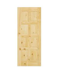 D2D ประตูไม้สนนิวซีแลนด์ ขนาด 80x180cm. Eco Pine-016