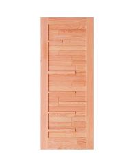 D2D ประตูไม้ดักลาสเฟอร์ ขนาด  80x200 ซม. Eco Pine - 034 Plus ธรรมชาติ