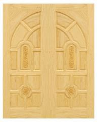 D2D ประตูไม้สนนิวซีแลนด์ ขนาด 100x200 ซม. Eco Pine - 005 สีน้ำตาลอ่อน