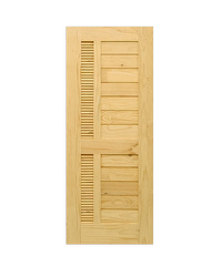 D2D ประตูไม้สนนิวซีแลนด์ ขนาด 65x200 cm. Eco Pine-019 ธรรมชาติ