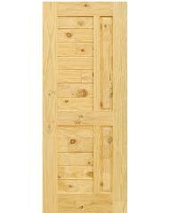 D2D ประตูไม้สนนิวซีแลนด์ ขนาด 120x220 cm. Eco Pine-007