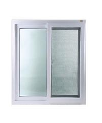 Wellington หน้าต่างบานเลื่อนคู่ UPVC - มุ้ง ขนาด 120 X 110 cm. - ขาว