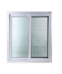 Wellington หน้าต่างบานเลื่อนคู่ UPVC - มุ้ง ขนาด 150 X 110 cm.  - ขาว