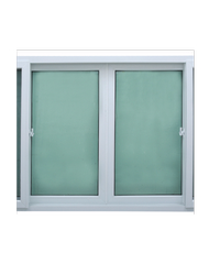 Wellington หน้าต่างบานเลื่อน 4 UPVC - มุ้ง ขนาด 240 X 110 cm. - ขาว