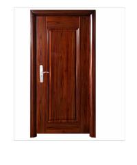 Wellington ชุดประตูเหล็กพร้อมวงกบ 106x212x13ซม. Hkai-C3L-in น้ำตาล
