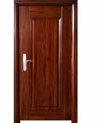 Wellingtan ชุดประตูเหล็กพร้อมวงกบ เปิดขวา เปิดเข้า ขนาด106x212x13ซม. หนา0.82  Hkai-C3R-in สีน้ำตาลเข้ม