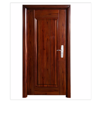 Wellington ชุดประตูเหล็กพร้อมวงกบ 106x212x13ซม. Hkai-C3L-out น้ำตาลเข้ม