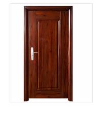 Wellington ชุดประตูเหล็กพร้อมวงกบ106x212x13ซม. Hkai-C3R-out น้ำตาล