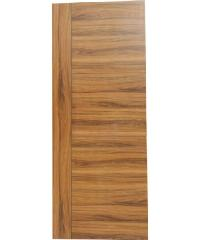 HOLZTUR ประตูปิดผิวเมลามีน เซาะร่องดำ 80cm.x200cm. Golden Walnut  MDL001