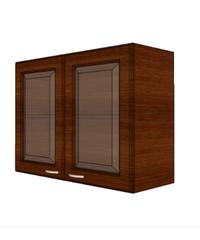 WT ตู้แขวนบานกระจกตรงใส สีโอ๊ค W608GL-O