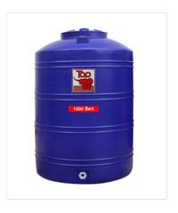 ถังเก็บน้ำพอลิเมอร์ 1000 ลิตร TOT-1000 L น้ำเงิน