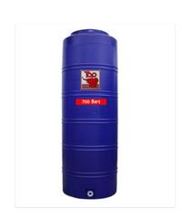 นิว ท็อป เวิลด์ ถังเก็บน้ำพอลิเมอร์ 700 ลิตร TOT-700L น้ำเงิน