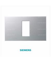 SIEMENS ฝา 1 ช่อง ขนาด 120 มม.DELTA azio สีเงิน 5TG9 860-5PB02