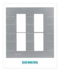 SIEMENS ฝา 4 ช่อง DELTA azio สีเงิน 5TG9 861-0PB02