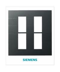 SIEMENS ฝา 4 ช่อง DELTA azio สีดำ 5TG9 861-0PB04 ดำ