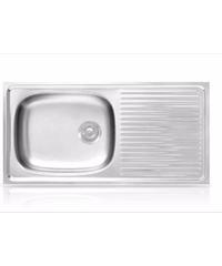 ADVANCE อ่างล้างจาน 1 หลุม 1 ที่พัก SKS100 MB/C สแตนเลส