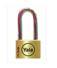YALE กุญแจคล้องสายยู ห่วงยาว 40 มม. Y117D/40/150/1 ทองเหลือง
