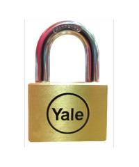 YALE กุญแจคล้องสายยูเยลห่วงสั้น  ขนาด 45 มม. Y117D/45/127/1 ทองเหลือง