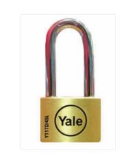 YALE กุญแจคล้องสายยู ห่วงยาว 45 มม. Y117D/45/152/1 ทองเหลือง