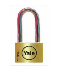 YALE กุญแจคล้องสายยู ห่วงยาว ขนาด 50 มม. Y117D/50/162/1 ทองเหลือง