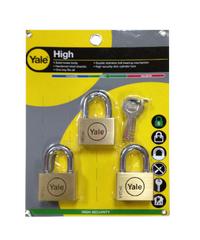 YALE กุญแจคล้อง ขนาด 45 มม. Y117D/45/127/3 ทองเหลือง