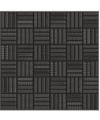 Sosuco 12x12 เหล็กนำศิลป์-ดำ (11P) C. FLOOR TILE