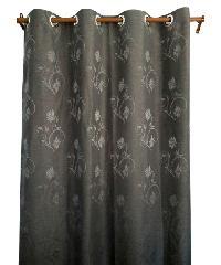 BALEENA ผ้าม่านประตู  (140x220ซม.) ZFB 24-9  สีเทาเข้ม