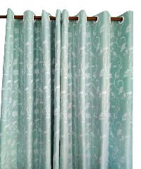 BALEENA ผ้าม่านประตู  (140x220ซม.) ZFB 22-12 สีฟ้าอ่อน