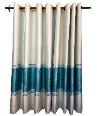 BALEENA ผ้าม่านหน้าต่าง (150x160ซม.) CLASSIC สีขาว-ฟ้า