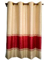 BALEENA ผ้าม่านประตู (150x250ซม.)  CLASSIC สีขาว-แดง